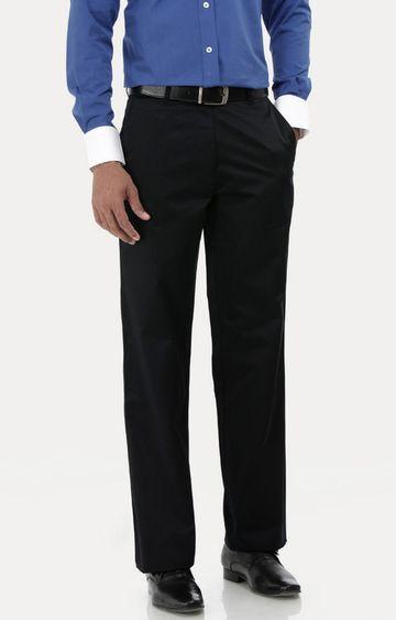 Basics | Black Flat Front Formal Trousers