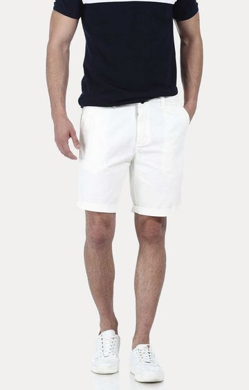 Basics | White Solid Shorts