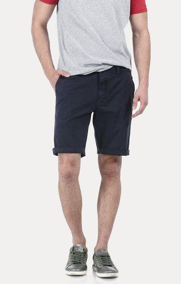 Basics | Navy Solid Shorts