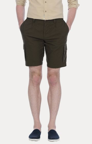 Basics | Olive Solid Shorts