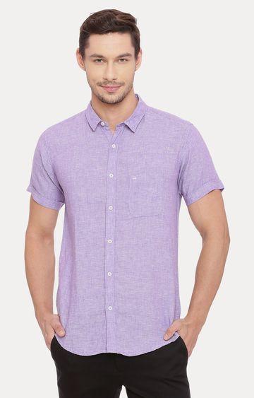 Basics   Purple Melange Casual Shirt