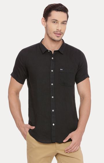 Basics | Black Melange Casual Shirt