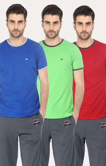Basics | Multicoloured Solid T-Shirt - Pack of 3