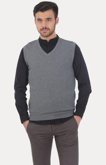 Basics | Grey Solid Sweater