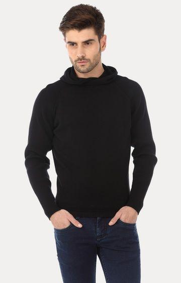 Basics | Black Solid Hoodie