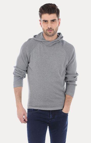 Basics | Grey Melange Hoodie