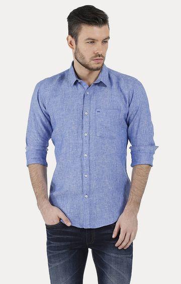 Basics | Blue Melange Casual Shirt