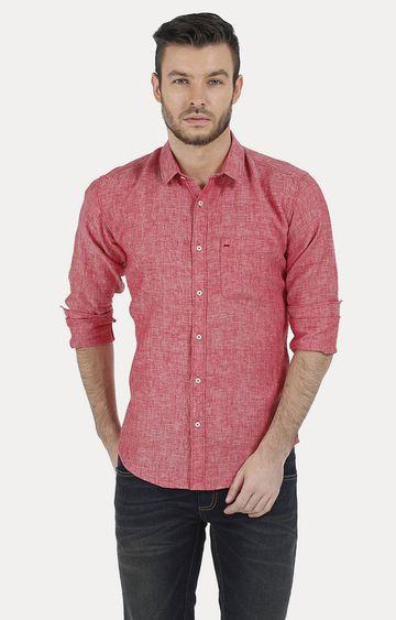 Basics | Red Melange Casual Shirt