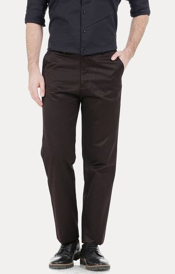 Basics | Dark Brown Straight Chinos