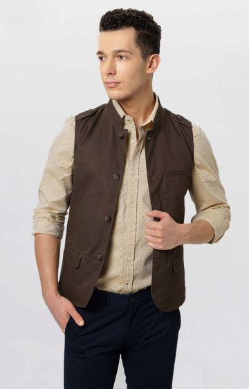 Basics | Brown Solid Jacket