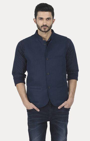 Basics | Navy Solid Jacket