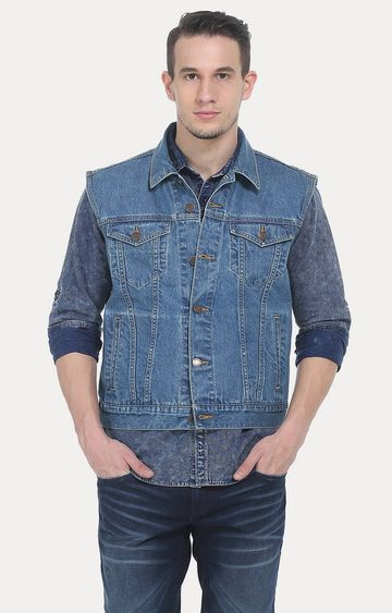 Basics | Navy Solid Denim Jacket
