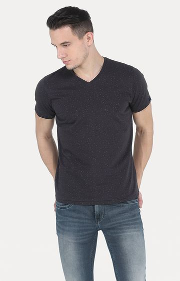 Basics | Black Printed T-Shirt