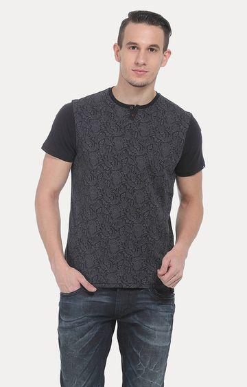 Basics | Dark Grey Printed T-Shirt
