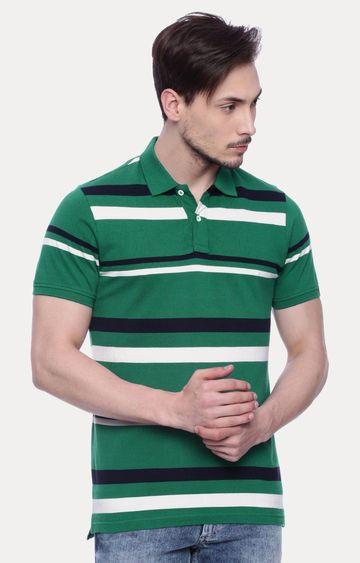 Basics | Green Striped T-Shirt