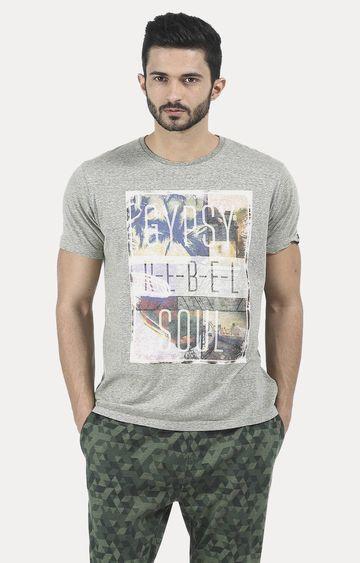 Basics   Green Printed T-Shirt