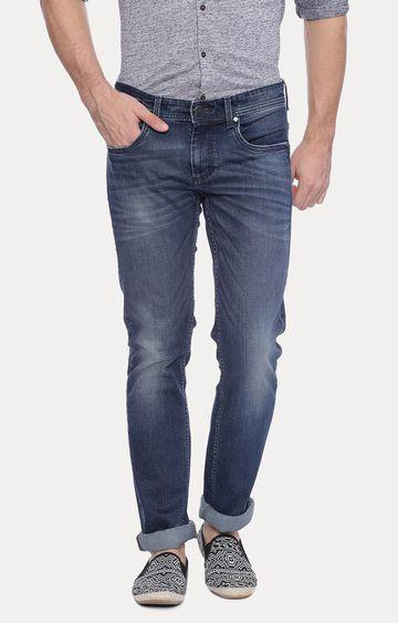 Basics | Navy Straight Jeans