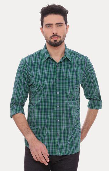 Basics | Green Checked Casual Shirt