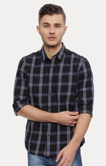 Basics | Black Checked Casual Shirt