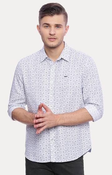 Basics | White Printed Casual Shirt