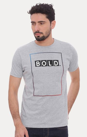 Basics | Grey Printed T-Shirt