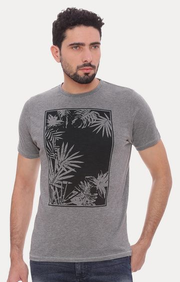 Basics | Dark Grey Printed T-Shirt
