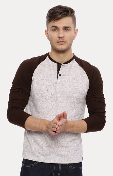 Basics | Grey and Brown Melange T-Shirt