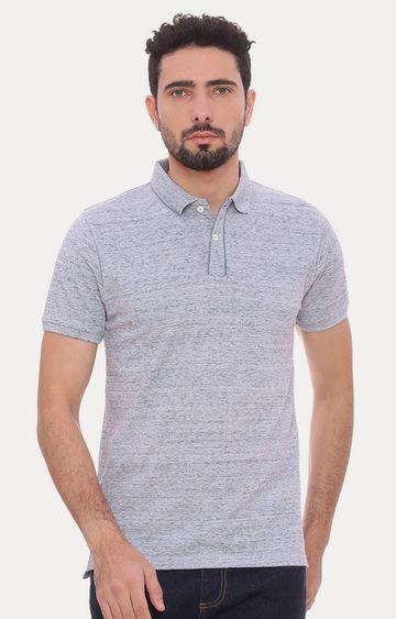 Basics | Blue Melange Polo T-Shirt