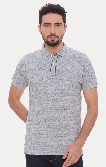 Basics | Grey Melange Polo T-Shirt