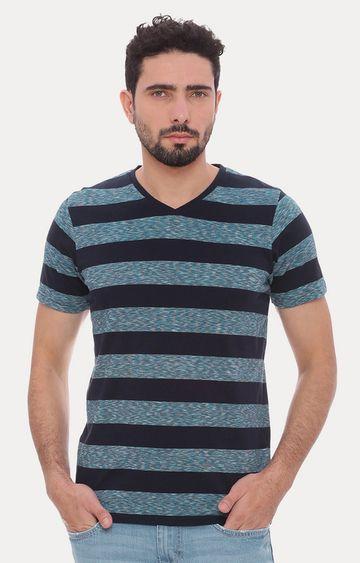 Basics | Navy Striped T-Shirt