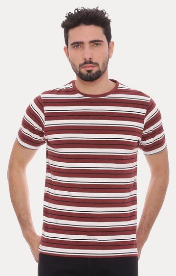 Basics | Rust Striped T-Shirt