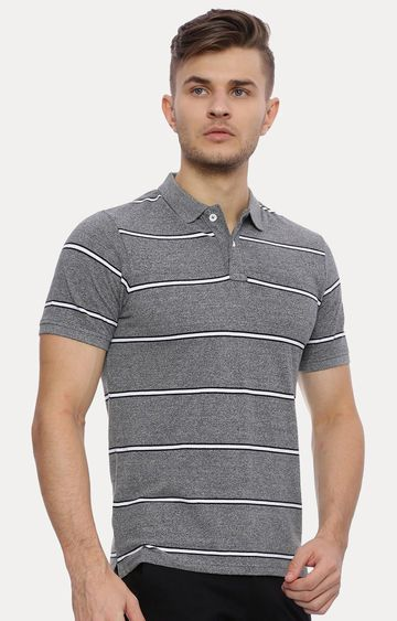 Basics | Grey Striped T-Shirt
