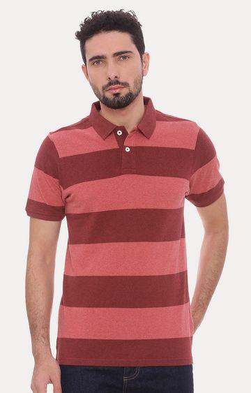 Basics | Red Striped Polo T-Shirt