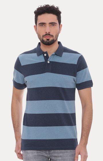 Basics | Blue Striped Polo T-Shirt