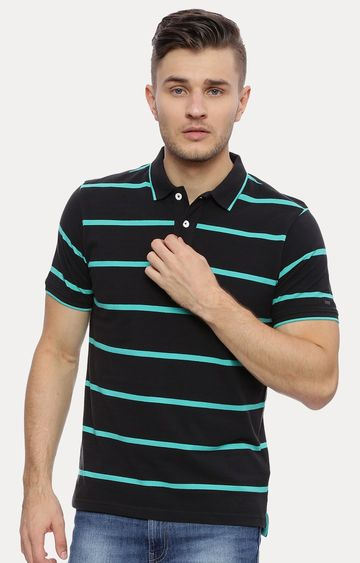 Basics | Dark Grey Striped T-Shirt