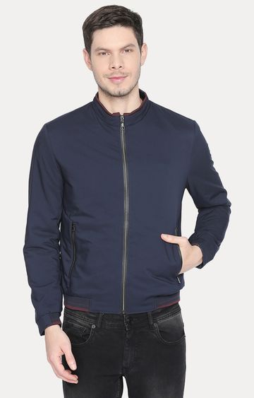Basics | Navy Solid Bomber Jacket