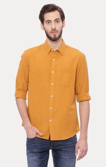 Basics | Light Brown Melange Casual Shirt