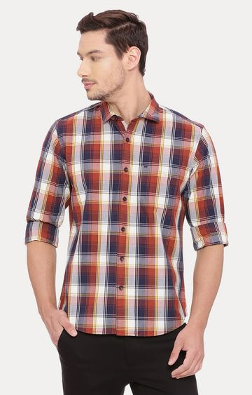Basics | Red and Blue Checked Casual Shirt