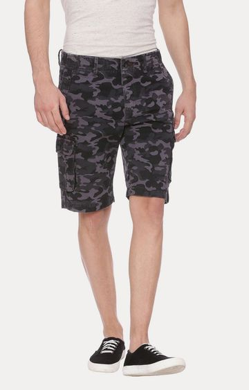 Basics | Grey and Black Camouflage Shorts