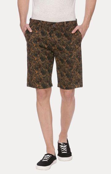 Basics | Khaki Printed Shorts