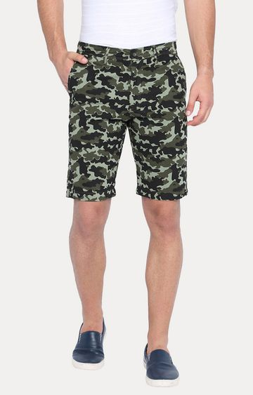 Basics | Green Printed Shorts