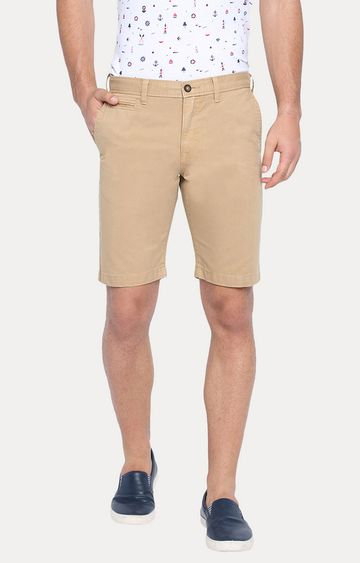 Basics | Khaki Solid Shorts