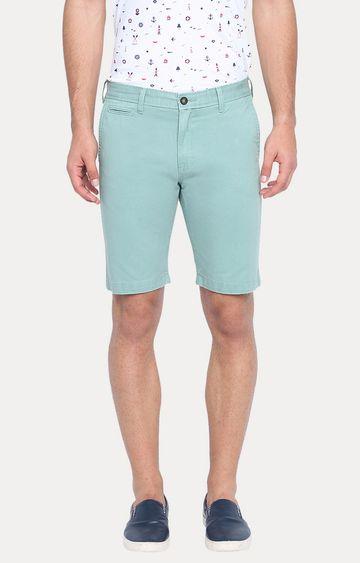 Basics | Turquoise Solid Shorts