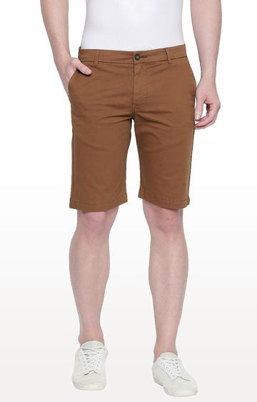 Basics | Brown Solid Shorts