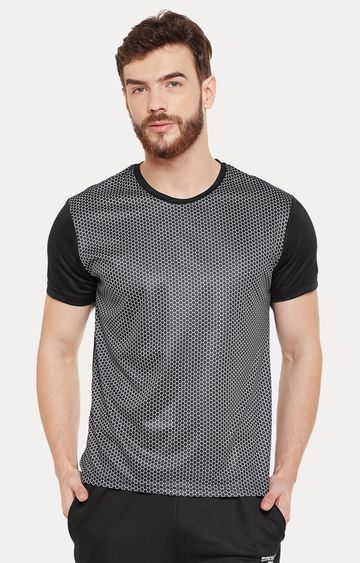 Masch Sports | Black Printed Activewear T-Shirt
