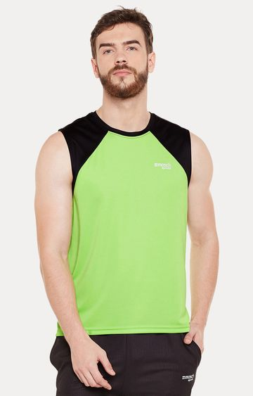 Masch Sports | Green Colourblock Activewear T-Shirt