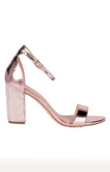 STEVE MADDEN | Rose Gold Block Heels