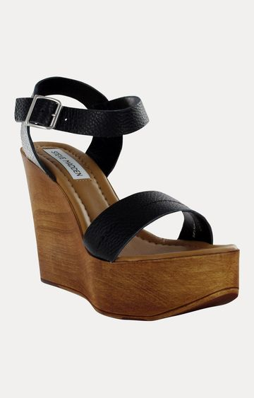 STEVE MADDEN | Black Wedges