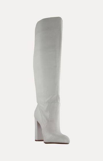 STEVE MADDEN   White Boots