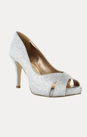 STEVE MADDEN | Silver Kitten Heels